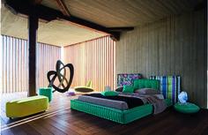 Roche Bobois - MAH JONG Bed - design Marco Fumagalli #mahjong #bed #rochebobois