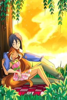 Flora and Helia from Winx Club