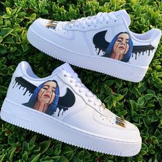 billie eilish shoes nike Each individual pair is handcrafted to orderNot paintedBrand new with boxFinal Sale. Non refundable/ No Exchanges.Turn around time weeks Shipping Time(subject to change without notice depending on order volume)This is a special. Cute Nike Shoes, Cute Nikes, Shoes Cool, Jordan Shoes Girls, Girls Shoes, Sneakers Fashion, Sneakers Nike, Fashion Outfits, Sneakers Women