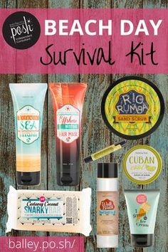 Perfectly Posh Beach Day Survival Kit Link to order or join Posh: https://www.perfectlyposh.com/PoshwithFaith/%C2%A0%F0%9F%92%95  Contact me at:https://www.facebook.com/tweedle.kae