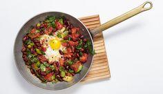Schnelle Bohnen-Pfanne und?Ei