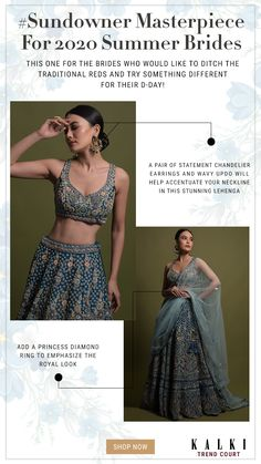 Teal Lehenga Choli In Raw Silk Hand Crafted With Embossed Embroidery In Heritage Floral Pattern Online - Kalki Fashion Blue Lehenga, Lehenga Choli, Indian Look, Indian Wear, Wavy Updo, Cut Work, Indian Suits, D Day, Bridal Lehenga