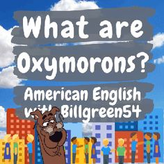 An oxymoron is a figure of speech that contradicts itself! It could be just two words or more. We use oxymorons often without ever realizing it. Have fun with this subject! American English Grammar, English Language, English Study, Learn English, What Is English, Grammar Review, Figure Of Speech, Do You Remember, Messages