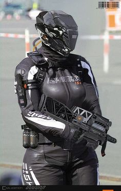 Deviant art et concepts militaire Cyberpunk Girl, Cyberpunk Character, Suit Of Armor, Body Armor, Armor Concept, Concept Art, Futuristic Armour, Sci Fi Armor, Future Soldier