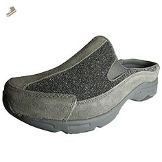 Easy Spirit Womens Hot Racings Slip On Mule Shoe, Grey, US 6 W - Easy spirit mules and clogs for women (*Amazon Partner-Link)