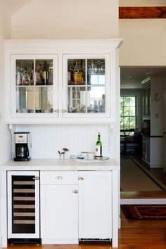 Open Kitchen Hutch Into A Bar