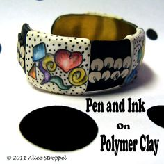 Tutorial - Pen and Ink on Polymer Clay. $10.00, via Etsy.