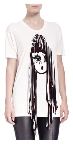 Lanvin 3-D Girl Short-Sleeve Tee - was $885.0, now $353.0 (60% Off) @ Bergdorf