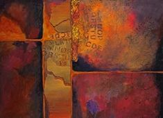 """Ticket to Ride, 030115 by Carol Nelson mixed media ~ 30 inches x 40 inchesMixed Media Abstract Painting, """"Ticket to Ride"""" © Carol Nelson Fine Art"""