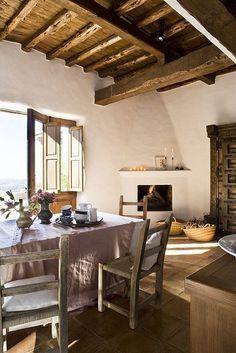 salon en casa de campo rustica #casasdecamporusticas