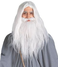 Deluxe santa #fancy dress costume #white wizard wig and beard #christmas hallowee,  View more on the LINK: 	http://www.zeppy.io/product/gb/2/351378447974/
