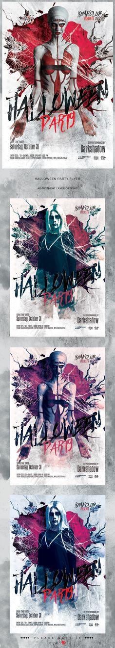 Minimal Halloween Party Flyer  Flyers Halloween Party And Parties
