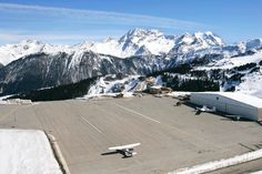 Airport Courchevel, France: Altitude 2007 Metern in the French Alps. RWY length: 537 meter with an angle of up to 18,66 percent - only for pilots with a special qualification......  Note: The airport is not part of a TV documentary to the 10 most riskiest airports of the world