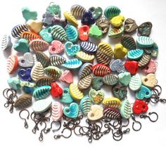 RESERVED+FOR+GRETA...+Handmade+Ceramic+and+Copper+by+Bohulleybeads,+£19.80