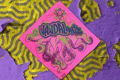 Pink TNTCLS Art Print Bandana   VANDALrgz   Online Store  Merchandise  #VANDALrgz #bikepolo #lifestyle #streetwear