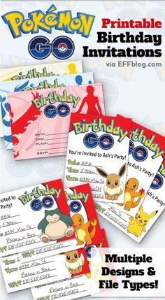 Pokémon Gopocalypse is upon us. Embrace it and get to printing these free invitations for the next birthday party on your planning list! #pokemongo