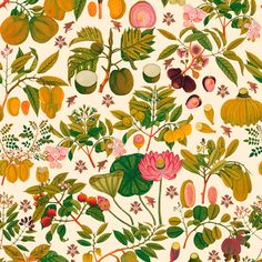 Mind the Gap Asian Fruits and Flowers Wallpaper - 1 box (3 drops)