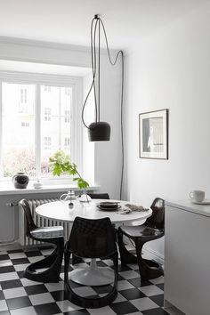 The monohcome home of Swedish interior stylist Elin Kickén. Alvhem.