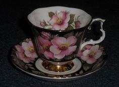 Royal Albert Alberta Rose Footed Teacup & Saucer Xmas Gift - $0.99 Starting Bid! #RoyalAlbert