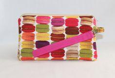 #Kawaii #Macaron Wristlet Wallet Bag by RedShirtCreations on Etsy