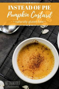 pumpkin custard cups have been a go-to dessert for us for years. This gluten free pumpkin dessert is loved by everyone who tries it! via Sustainable Gluten Free Pumpkin, Healthy Pumpkin, Baked Pumpkin, Pumpkin Recipes, Fall Recipes, Real Food Recipes, Holiday Recipes, Dessert Recipes, Yummy Food
