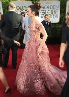 Golden Globes: Lily Collins in Zuhair Murad Couture