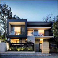 149 most popular modern dream house exterior design ideas -page 24 Modern Exterior, Exterior Design, Rustic Exterior, Casas Containers, Interior Minimalista, Exterior Remodel, Exterior Doors, Exterior Stairs, Exterior Cladding