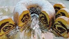 Rozi Erdélyi konyhája: Piskóta tekercses kuglóf Doughnut, Sushi, Ethnic Recipes, Food, Essen, Meals, Yemek, Eten, Sushi Rolls