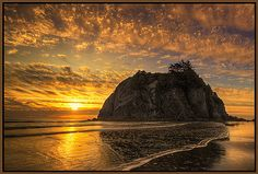 https://flic.kr/p/7HmBs3 | Sunset at Ruby Beach
