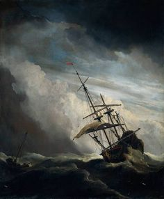 Ship and approaching storm