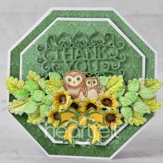 Owl Family, Heartfelt Creations, Flower Shape, Greeting Cards Handmade, Cardmaking, Vibrant Colors, Decorative Boxes, Thankful, Paper Crafts