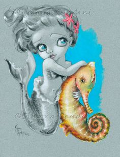"""Little Mermaid"" ©Simona Candini Nov. 2012 — with Simona Candini Art."