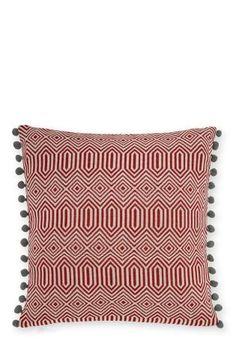 Buy Red Geo Jacquard Cushion online today at Next: New Zealand