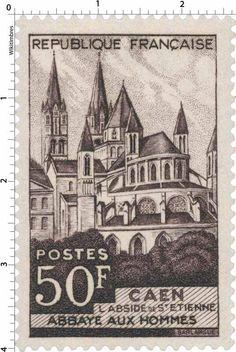 L'abside de Saint-Etienne - Abbaye aux Hommes - Caen (1951)