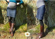 Miss Margerite: Jeansrock für schöne Umstände