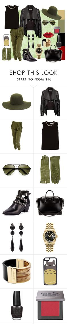 """wild city :)"" by pretty-girl81 on Polyvore featuring moda, HIDE, Erdem, Want Les Essentiels de la Vie, Yves Saint Laurent, Givenchy, Rolex, Michael Kors, CellPowerCases e OPI"