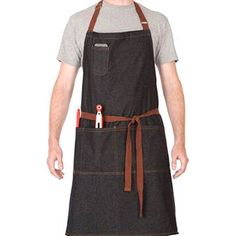 Plus-sized cooking apron with modern design, suitable for barista
