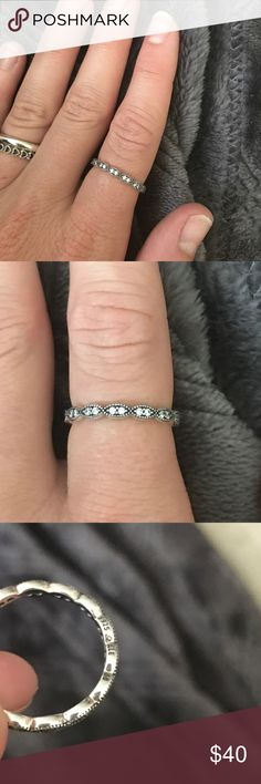 Pandora ring Size 56...71/2 retails for 70.00 Pandora Jewelry Rings