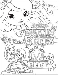 Image detail for -Strawberry Shortcake And Friends Coloring Pages