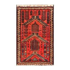 $220 Herat Oriental Semi-antique Afghan Hand-knotted Tribal Balouchi Red/ Brown Wool Rug (2'5 x 4')
