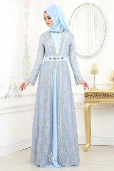 NEVA STYLE - BABY BLUE HIJAB EVENING DRESS 2011BM