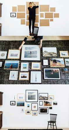 Romote fai da te Photo Display Hanging Picture Frames Stampe Multi Foto Organizzatore Collage Opere Memo Board Dorm decorativo Camera Decorazioni di Natale