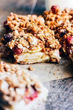 Apple Cranberry Crisp Bars — The Whole Bite