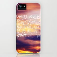 He will give you the desires of your heart.  iPhone & iPod Case by Brittney Borowski - $35.00