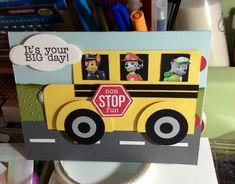 Paw patrol bus birthday card by melanie ott