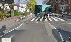 Abbey Road by the Beatles overlaid onto Google Street View image
