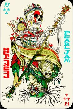 Pearl Jam gig poster by Jeff Soto & Tyler Stout