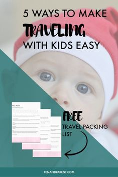 Wondering how to travel with kids? Check out these sanity-saving travel tips that will make your next family trip fun and relaxing. Comes with a travel packing list free printable that you can use for babies, toddlers or kids of any age. Click through to read now or save to read later. #travelpackingkids