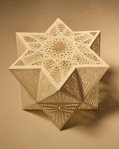 Paper, Tahiti Pehrson, Artist, Polyhedra, 2012, paper cut