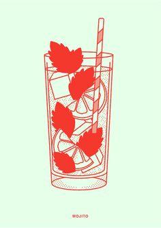 Cocktails Drawing, Sushi Drawing, Cocktail Illustration, Cocktails Vector, Collage Artwork, Menu Templates, Summer Cocktails, Inspiring Art, Food Illustrations